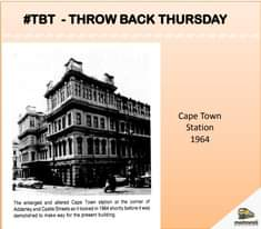 Do you remember the old Cape Town station ? #TBT   Share with us your rail histo… 125279868 5321838407841702 6817598919930635203 n
