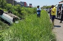 Overturned Vehicle Lands In Ditch: Mt. Edgecombe – KZN  Two occupants of a VW Go… 125530924 3815345951817304 5903073775406509911 o