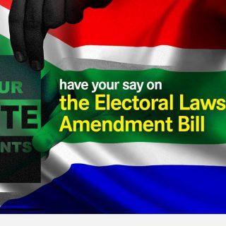 comment on the Electoral Laws Amendment Bill DearSA Electoral Laws Amendment Bill 320x320