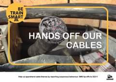 #BeTrainSmart Hands off our cables 128066228 5411620572196818 765350389483185568 o