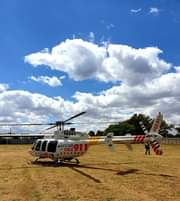 Gauteng HEMS: Netcare 2 a specialised helicopter ambulance has been activated fo… 139415160 3764947033526405 7783048636600563492 o