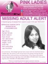 #MissingMinorsPinkLadies   Missing: Milnerton WC Bernaleigh Tharon Cortje 19 yrs… 142299669 4842563225816099 8626381308430210932 o