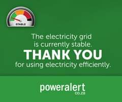 #PowerAlert   26 January 2021  21:00  The electricity grid is currently stable. … 142479735 4440165199343523 6622167670915346025 o
