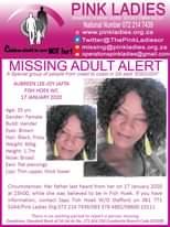 #MissingMinorsPinkLadies   Missing: Fish Hoek WC Aubreen Lee-Roy Jafta 35 yrs 17… 142915370 4843351119070643 4933884823558388064 o