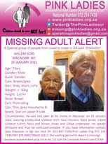 #MissingMinorsPinkLadies   Missing: Macassar WC Willem Sors 73 yrs 25 January 20… 143867588 4852728718132883 289782713226379374 o