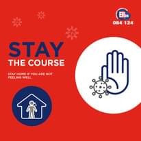 #StayTheCourse    Stay home if not feeling well   The risk of COVID-19 spreading… 143976809 3778993175495352 2440153751828692160 n
