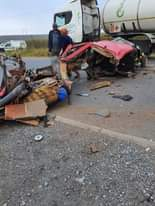 Two men were injured yesterday, one seriously, following a collision between a t… 164402107 3932188020175866 1577843342738594668 o