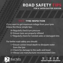 Take note of these tyre tips, for a #SaferEaster season!… 165523658 3800029810079115 4828461128293126074 n