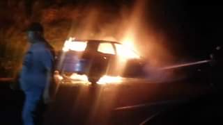 Vehicle On Fire: Verulam – KZN  Seen in this video is a blue Toyota Auris that w… 121952157 768245347401582 3224262068536076643 n