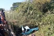 Bakkie Plunges Off Bridge: Hazelmere – KZN   A blue Toyota Hilux bakkie transpor… 168462610 4200904586594770 7464701715131694608 n