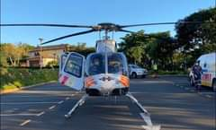 KwaZulu-Natal HEMS: A Netcare 911 helicopter ambulance has been activated for an… 169386281 3998289680192138 6992557345899102615 n