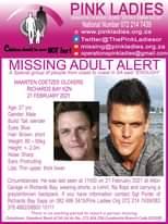 #MissingMinorsPinkLadies   Missing: Richards Bay KZN Maarten Coetzee Olckers 27 … 173498631 5214123731993378 7199566740736295605 n