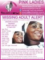 #MissingMinorsPinkLadies   Missing: Bishop Lavis WC Grashire Augusta Maarman  25… 173907070 5217954471610304 1934810543025987945 n