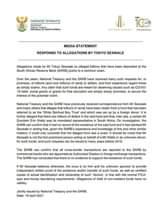 South African Reserve Bank and National Treasury media ststement regarding alleg… 175665882 4183472968350745 1782320279410077866 n