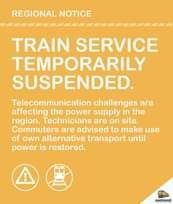 #SouthernLineCT #CapeFlatsLineCT Regional Notice #ServiceAlert 120826475 5142293159129562 5111567876604306573 o