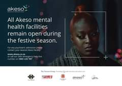 All Akeso mental health facilities remain open during the festive season.  For a… 132013629 3703277856359990 2957203416267580073 n